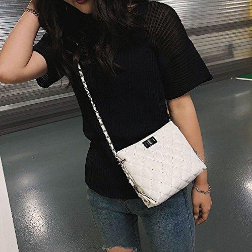 Bolsa white Black Mini WXIN Hembra Hombro fragante de Brisa Bolsa pequeña pequeña Diamante Bolsa Cadena fxHAwvq6