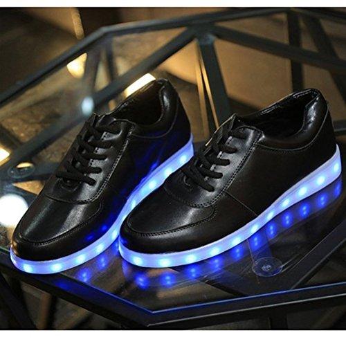 JUNGLEST calzado color de zapatillas Light hombre de Presente a Shoes intermitentes deportes Negro de 7 luces peque techo LED carga para toalla USB zapati HxHAqnt