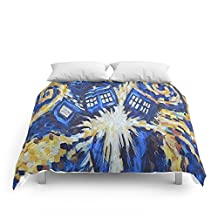 "Society6 Dr Who Comforters Queen: 88"" x 88"""