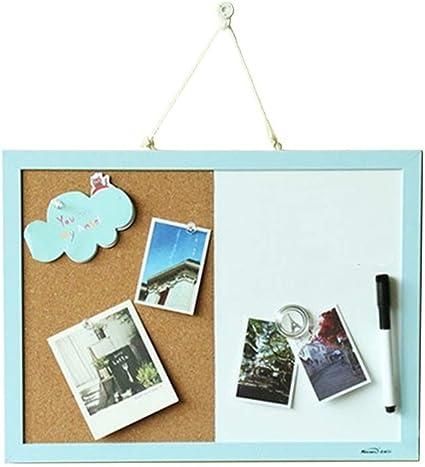 CloudOrz - Pizarra de corcho para colgar en la pared con chinchetas, imán, bolígrafo: Amazon.es: Oficina y papelería