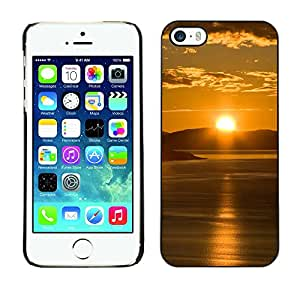 "For Apple iPhone 5 / 5S , S-type Sunset Beautiful Nature 65"" - Arte & diseño plástico duro Fundas Cover Cubre Hard Case Cover"