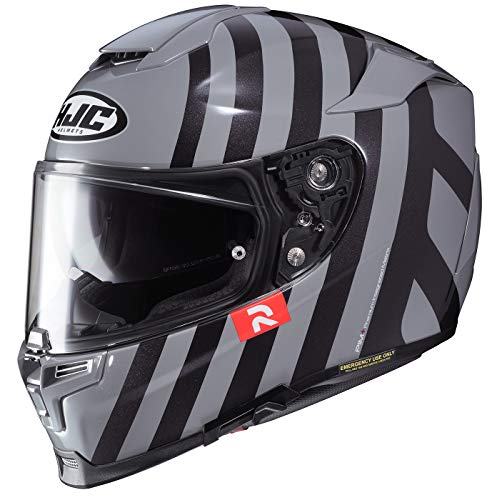 HJC Unisex Adult Full Face RPHA-70ST Forvic Motorcycle Helmet MC-5 Grey/Black - Helmet Mc5 Face Full