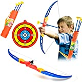 ANNA SHOP Simulation Bow Brrow Plastic Soft Sucker Arrow with Target Set Children Sports Toys for Over 3 Years Olds