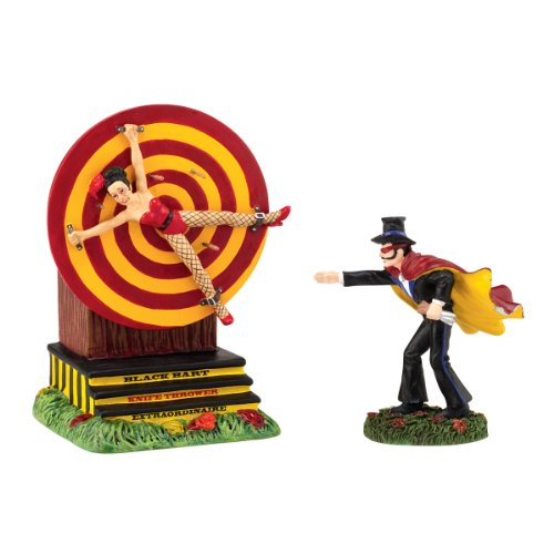 Department 56 Halloween Accessories Village Black Bart Knife Thrower Animated, 3.94-Inch (Halloween Accessories)