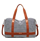 Ladies Women Canvas Travel Weekender Bag Overnight Carry-on Shoulder Duffel Tote Bag