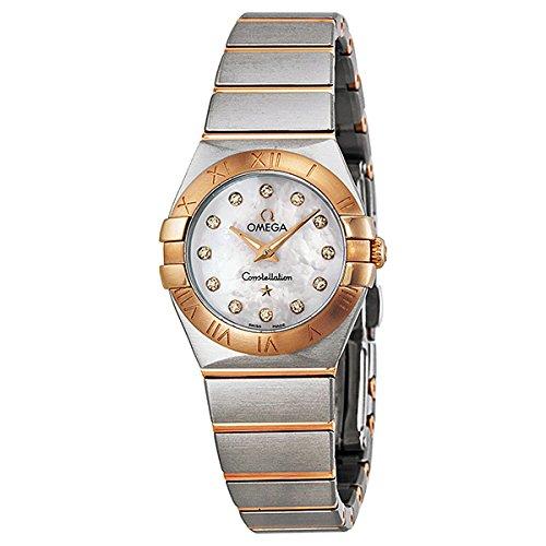 Omega Quartz Bracelet - Omega Women's 12320246055001 Constellation Analog Display Swiss Quartz Silver Watch