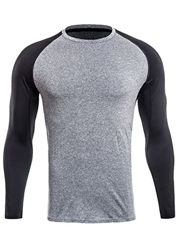 ZITY Mens Premium Fitted Long-Sleeve O-Neck T-Shirt US (Tech Goalkeeper Jersey)