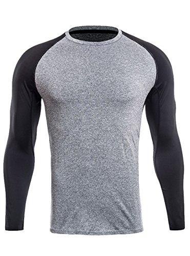 ZITY Tshirt For Men,Plus Size?O-Neck ComfortSoft Long Sleeve T-Shirt US M=LableL
