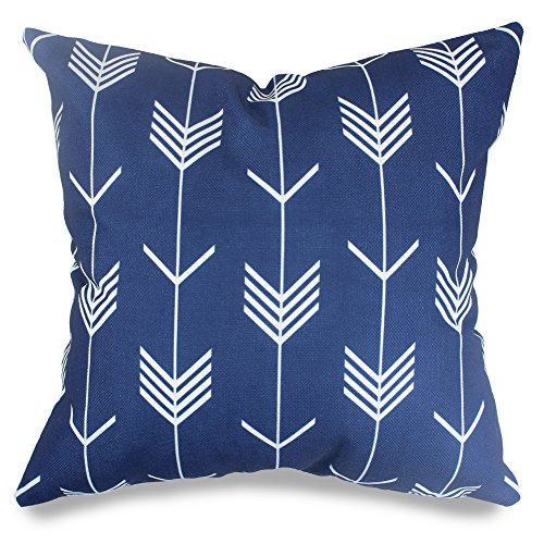 Popeven Royal Blue Arrow Decorative Pillow Covers Arrow Geom