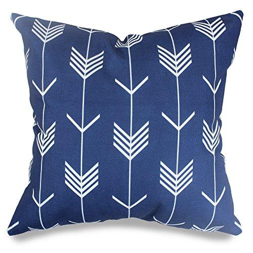 Popeven Royal Blue Arrow Decorative Pillow Covers Arrow Geom