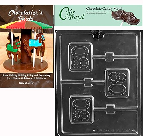 CybrTrayd Bk-L064#80 Square Lolly Chocolate Candy Mold Clear