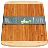 Greener Chef Extra Large Organic Bamboo Cutting Board for Kitchen - Lifetime Replacement Boards - 18 x 12.5 Inches - Best Wood Butcher Block and Wooden Carving Board for Meat and Chopping Vegetables