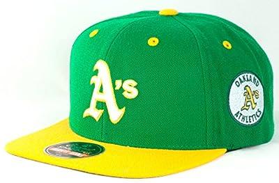 Oakland Athletics A's MLB Blockhead Adjustable Snapback Cap - Green