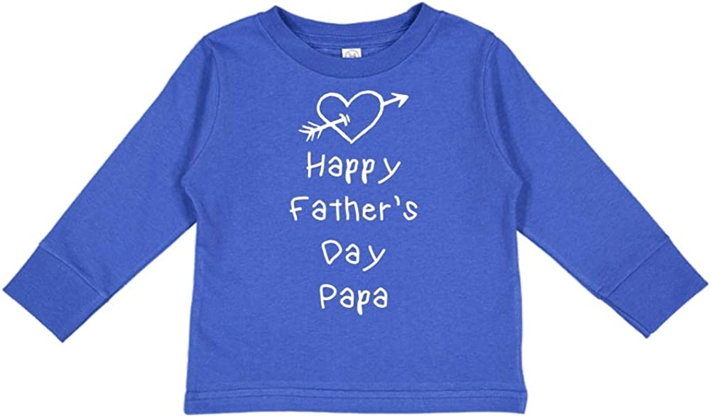 Heart and Arrow Toddler//Kids Long Sleeve T-Shirt Happy Fathers Day Papa