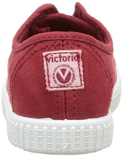 Victoria Inglesa Lona Tintada Punt. - Zapatillas Niños Rouge (40 Rojo)