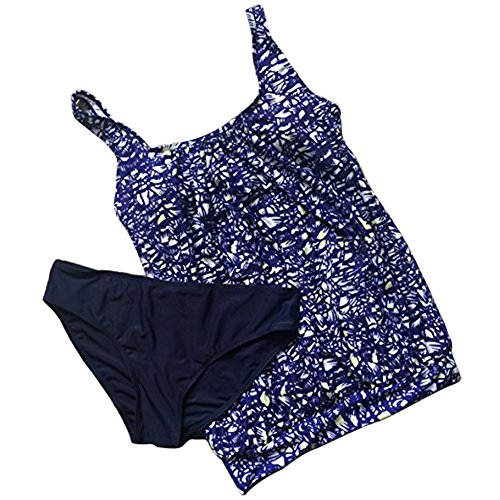 Stampato Bagno Set A Delle Up Push Pezzi Donne Più Beachwear Da Tankini Imbottito Bikini Floreale Di Due Signore Blu Il Xinvision Formato Estate Delle Nuoto Costumi 2 TXx68Hqw11