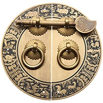 Set Of 2 Antique Drop Pendants Handles Round Bronze Furniture Door Drawer Elegant And Sturdy Package Boxes/chests