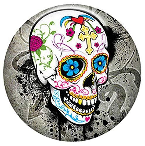 Rockin Angels Cinco de Mayo Halloween Colored Skull Enamel 20mm Snap Charm for Ginger Snaps