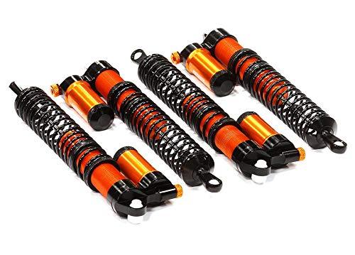 (Integy RC Model Hop-ups T6723ORANGE Rebound Adjustable Piggyback Shock (4) for HPI Savage X 4.6 2011, Flux & Savage XL)