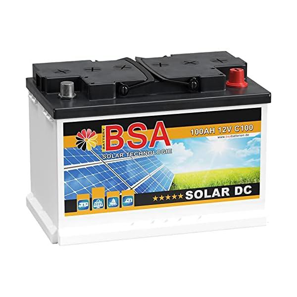 51FjZfqFgTS BSA Solar DC 12V 100Ah Batterie Solarbatterie Versorgungsbatterie Boot Wohnmobil - 6 Grössen (100Ah)