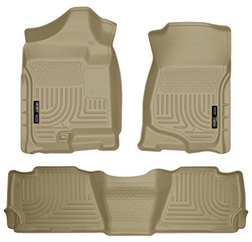 Husky Liners Front & 2nd Seat Floor Liners Fits 07-14 Suburban 1500/Yukon XL1500 (Cadillac Escalade Esv Rear Floor)