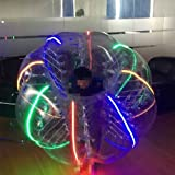BubbleU24(TM) Bubble Zorb Soccer Ball With Led Lighting Adult Size For Bubble Football Bumper Loopy Ball Knocker Game