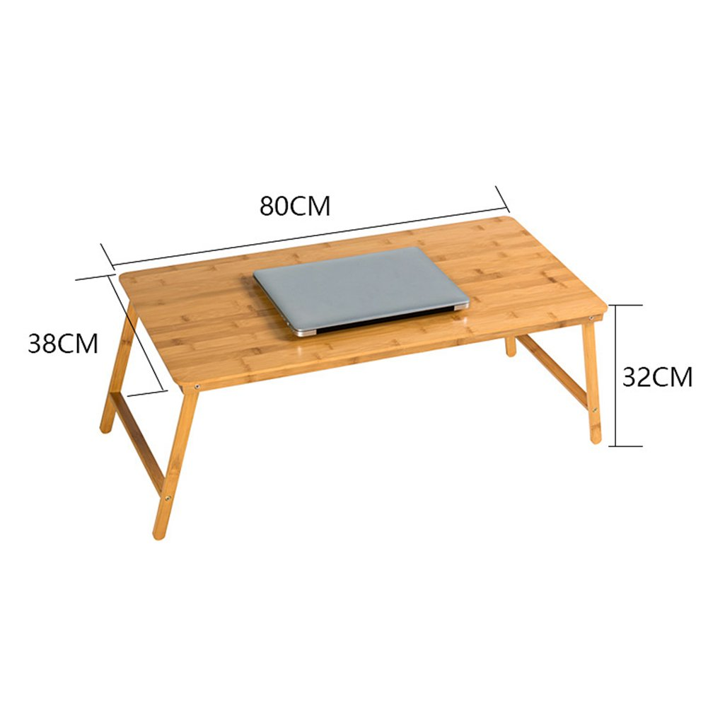 PENGFEI Foldable Laptop Stand for Desk Multifunction Portable Home Bed Sofa Table College Students Dorm Room Learn Bamboo, Wood Color (Size : 80x38x32CM) by PENGFEI-xiaozhuozi (Image #4)