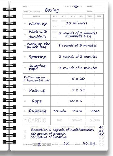 Cossac Fitness Journal & Workout Planner - Designed by Experts Gym Notebook, Workout Tracker,Exercise Log Book for Men Women 9