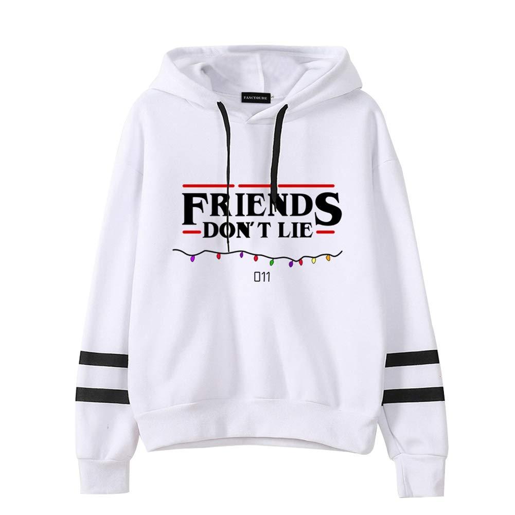 Tiantianmei Womens Friends Dont Lie Unisex Hoodie Long Sleeve Pullover Sweatshirt