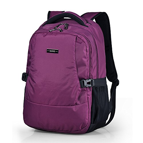 15.6' Suit - Business Laptop Backpack for Men Women - Water Resistant Travel Laptop Backpacks Bag Lightweight Durable College School Backpack Computer Bags Fits 14/15.6 Inch Notebook by Hanke (19 inches, Purple)