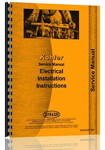 Comb Elec (Kohler all Electric Plants Installation Instructions Service Manual)