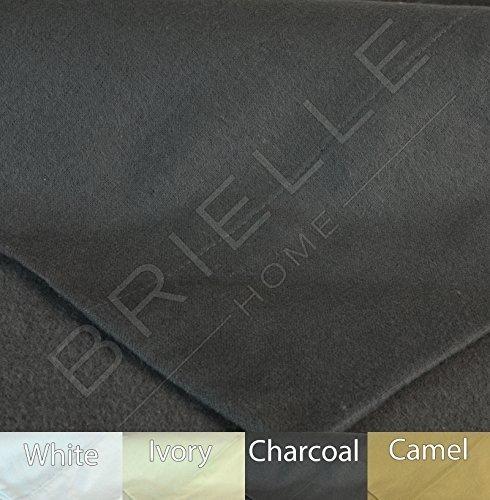 Brielle 100-Percent Cotton Flannel 6 Piece Sheet Set, Cal-King, Charcoal