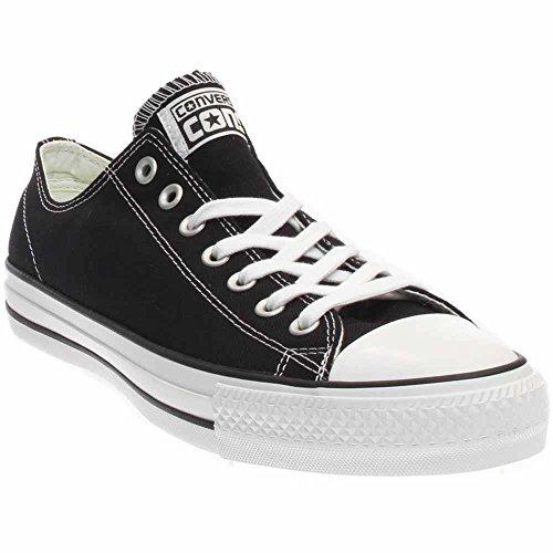 Converse Unisex Chuck Taylor All Star Pro Ox Black/White Skate Shoe 10 Men US/12 Women US (Leather Pro Skate)