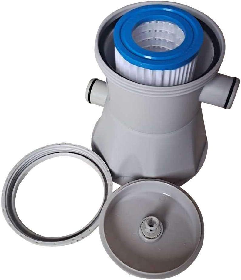 Optimalen Reinigung Von Wasser Im Schwimmbecken Pool Filterpumpe,Clear Cartridge Filter Pump Pool Kartuschenfilteranlage 300 Gal//hr Pool Filterpumpe,20 Watt Kartuschenfilteranlage