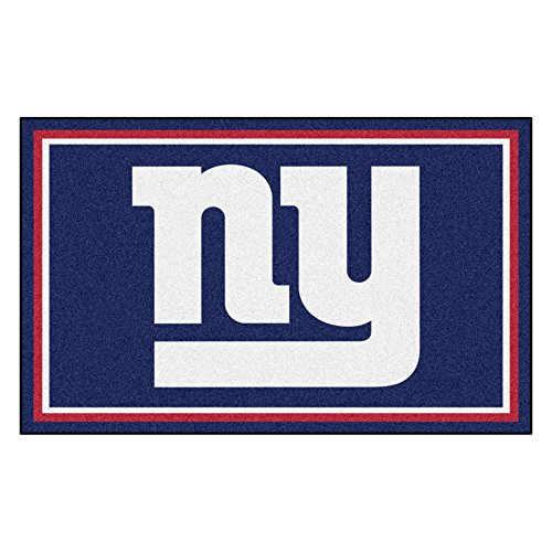 (FANMATS NFL New York Giants Nylon Face 4X6 Plush Rug)