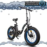 ECOTRIC Electric Bicycle 20″ Fat Tire Alloy Frame Ebike 500W Gear Rear Motor 36V/12.5AH Removable Lithium Battery LED Display