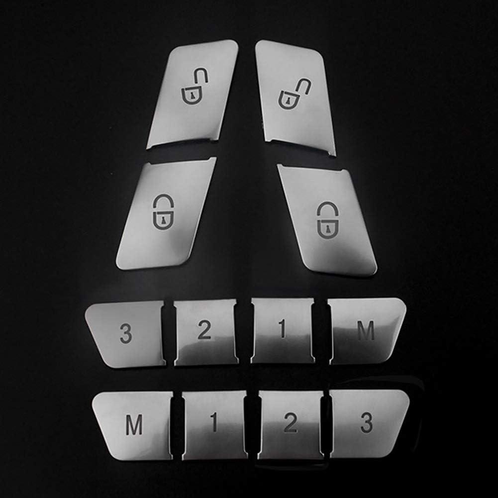 tragbar Styling Dekoration 12 St/ück//Set ABS-Zubeh/ör langlebig praktische Innenteile sch/ützend Autositzbezug Anpassung f/ür Mercedes-Benz A B E Klasse Yangxue Knopf-Aufkleber