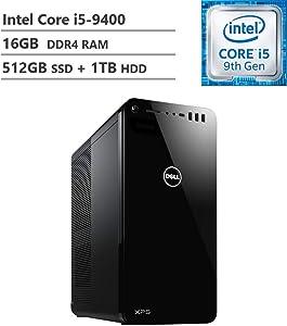 2019 Dell Flagship XPS 8930 Tower Desktop, Intel Core i5-9400 2.90GHz, GeForce GTX 1660 6GB GDDR5, 16GB RAM, 512GB SSD + 1TB HDD, 802.11ac + Bluetooth, HDMI, DisplayPort, VGA, Win10