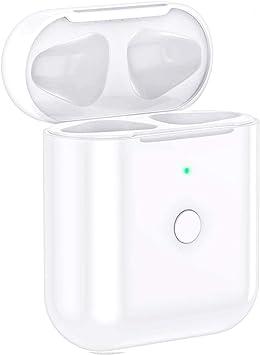 Reemplazo del estuche de carga inalámbrica Compatible con AirPods 1 2 con botón Bluetooth (No incluye Airpods, Compatible con todos los cargadores inalámbricos: Amazon.es: Electrónica
