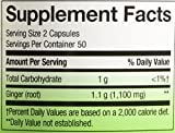 Natures Way Ginger Root, 550 mg, 100 Capsules