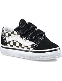 d3ecded1458f30 Toddler Old Skool V (Primary Check) Black White VN0A38JNP0S Skate Shoe