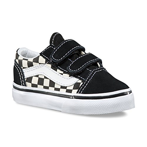 93638995af Vans Toddler Old Skool V (Primary Check) Black White VN0A38JNP0S Skate Shoe