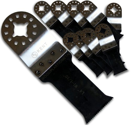 10pcs Set KENT FLUSH CUT Bi-Metal Oscillating Saw Blades Fits Fein Multimaster, Bosch, SECCO, Multi tool by Kent Blades