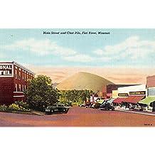 Flat River Missouri Main Street Scene Chat Pile Antique Postcard K51222