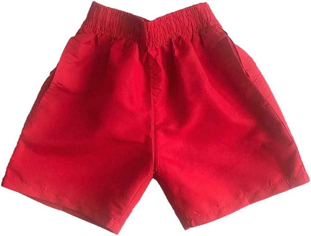 Boys Kids Army Camo Military Print Multipocket Swim Shorts and Cargo Shorts
