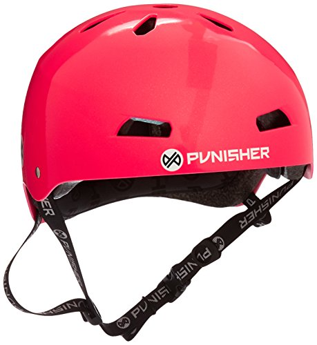 Punisher Skateboards Pro 13-Vent Dual Safety Certified BMX Bike and Skateboard Helmet, Metallic Flake Neon Hot Pink, Youth/Teen 9+