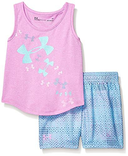 Under Armour Girls' Toddler UA Tank and Short Set, Verve Violet-S19, 3T ()