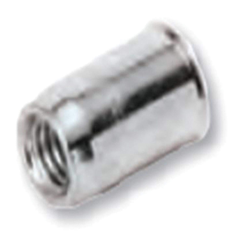 TU-SM8UKX30ZT, RIVETNUT, M8x1.25 (0.51-3.00mm GR) RND Body, Low PRO HD, CLSD End, Steel, Zinc CLR (50 PK) by UKO Series