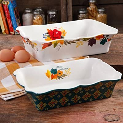 Timeless Floral Ruffle Top Baker Set by The Pioneer Woman, 2-Piece Baking Dish, 111265.02R by The Pioneer Woman
