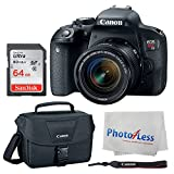 Cheap Canon EOS Rebel T7i Digital SLR Camera + Canon EF-S 18-55mm f/4-5.6 IS STM Lens + Canon EOS Shoulder Bag 100ES (Black) + SanDisk Ultra SDXC 64GB 80MB/S Class 10 Flash Memory Card + Deluxe Canon Bundle